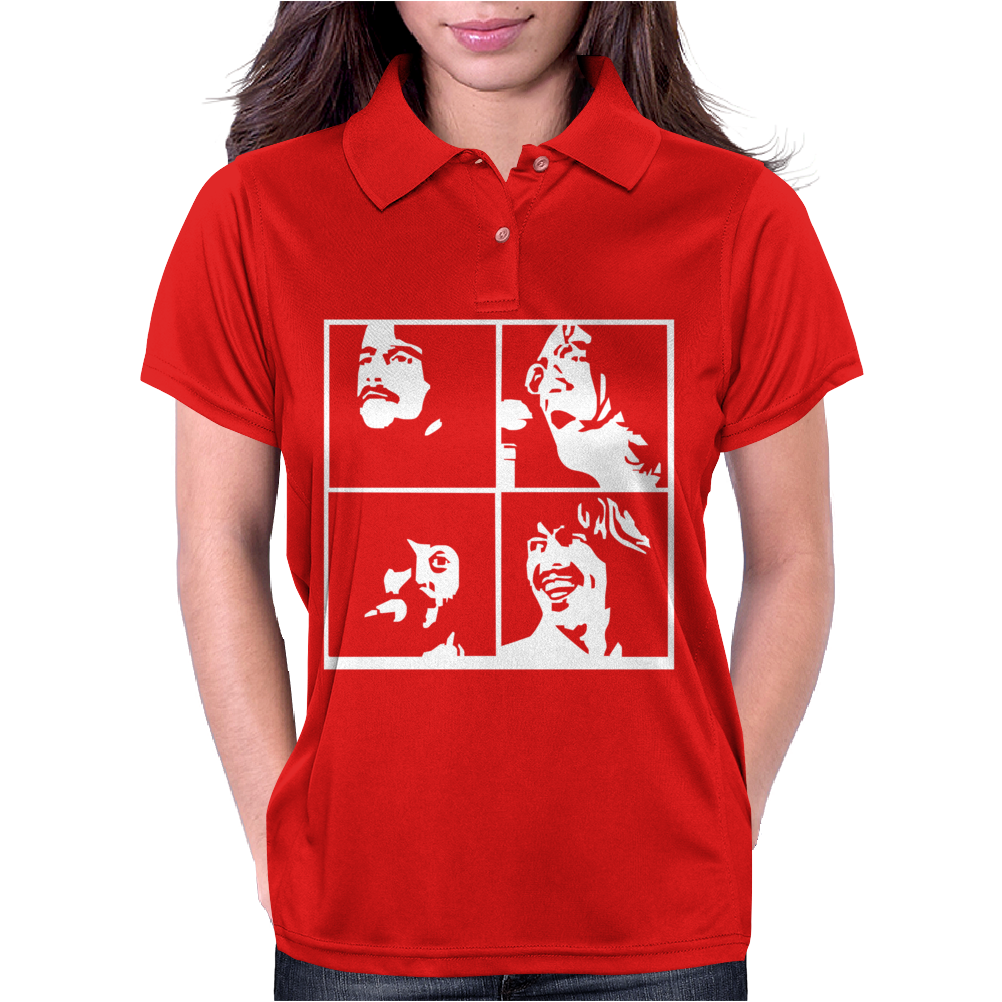 Famous Legendary Beatles Music Womens Polo