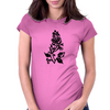 Fancy Flower Womens Fitted T-Shirt