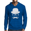 Fancy Moustache Glasses Top Hat Hipster Mustache Hat Wayfare Mens Hoodie