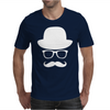 Fancy Moustache Glasses Top Hat Hipster Mustache Hat Wayfare Mens T-Shirt