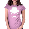 Fancy Moustache Glasses Top Hat Hipster Mustache Hat Wayfare Womens Fitted T-Shirt
