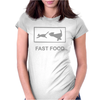 FAST FOOD FUNNY Womens Fitted T-Shirt