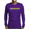 Fast UNICORN RAINBOW STRIPE Mens Long Sleeve T-Shirt
