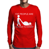 Fat People Are Harder To Kidnap FUNNY Mens Long Sleeve T-Shirt