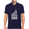 Fathers Day Gift - The Walking Dad Mens Polo