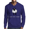 Fear Hate Anger Scared Sheep Mens Hoodie