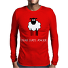 Fear Hate Anger Scared Sheep Mens Long Sleeve T-Shirt