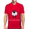 Fear Hate Anger Scared Sheep Mens Polo
