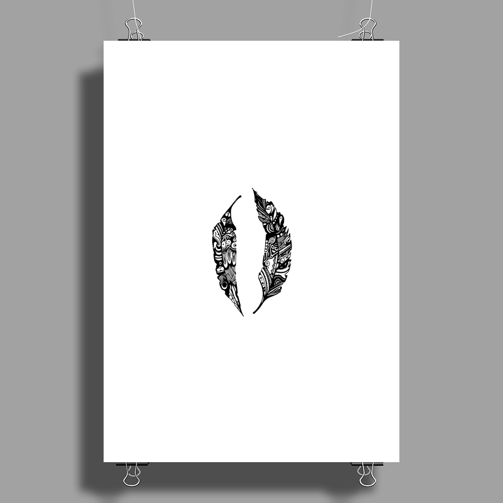 Feather Poster Print (Portrait)