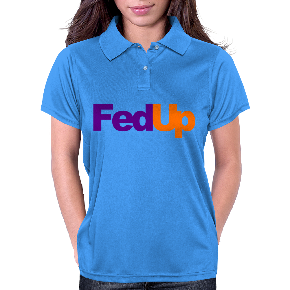 Fed Up Fedex Parody Womens Polo