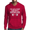 Feel safe at night sleep with a bodybuilder funny Mens Hoodie