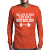 Feel safe at night sleep with a bodybuilder funny Mens Long Sleeve T-Shirt
