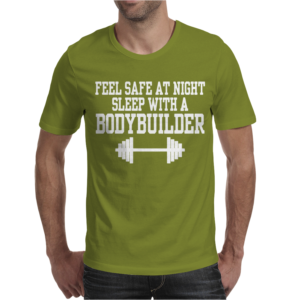 Feel safe at night sleep with a bodybuilder funny Mens T-Shirt
