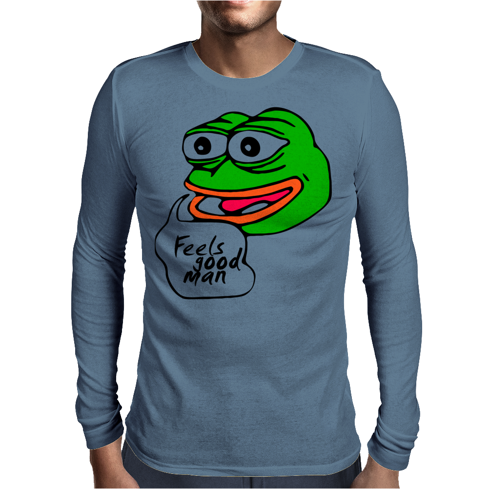 Feels good man Mens Long Sleeve T-Shirt