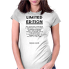 female individual limited edition Womens Fitted T-Shirt