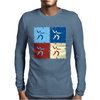Fencing Pop Art Mens Long Sleeve T-Shirt