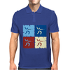 Fencing Pop Art Mens Polo