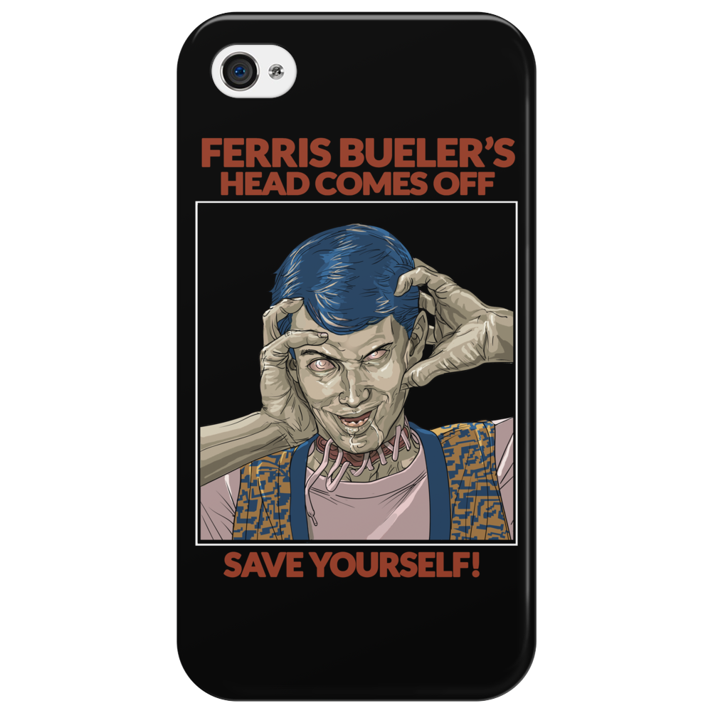 Ferris Bueler's Head Comes Off from Zombie Love Collection Phone Case