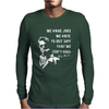 Fight Club Tyler Durden Brad Pitt Mens Long Sleeve T-Shirt