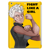 Fight Like a Girl (Words) Tablet (vertical)