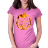 Fire dragon digital painting Womens Fitted T-Shirt