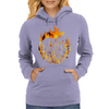 Fire dragon digital painting Womens Hoodie