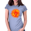Fire Lion Womens Fitted T-Shirt