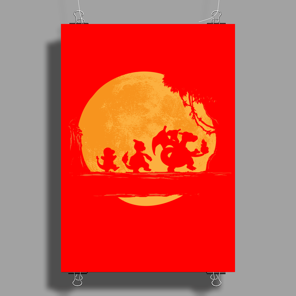 Fire Moonwalk Poster Print (Portrait)