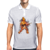 Fire Skeleton Guitarist Mens Polo