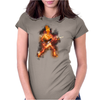 Fire Skeleton Guitarist Womens Fitted T-Shirt