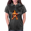 Fire Skeleton Guitarist Womens Polo