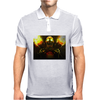 fire skeleton Mens Polo