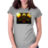 fire skeleton Womens Fitted T-Shirt