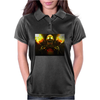 fire skeleton Womens Polo