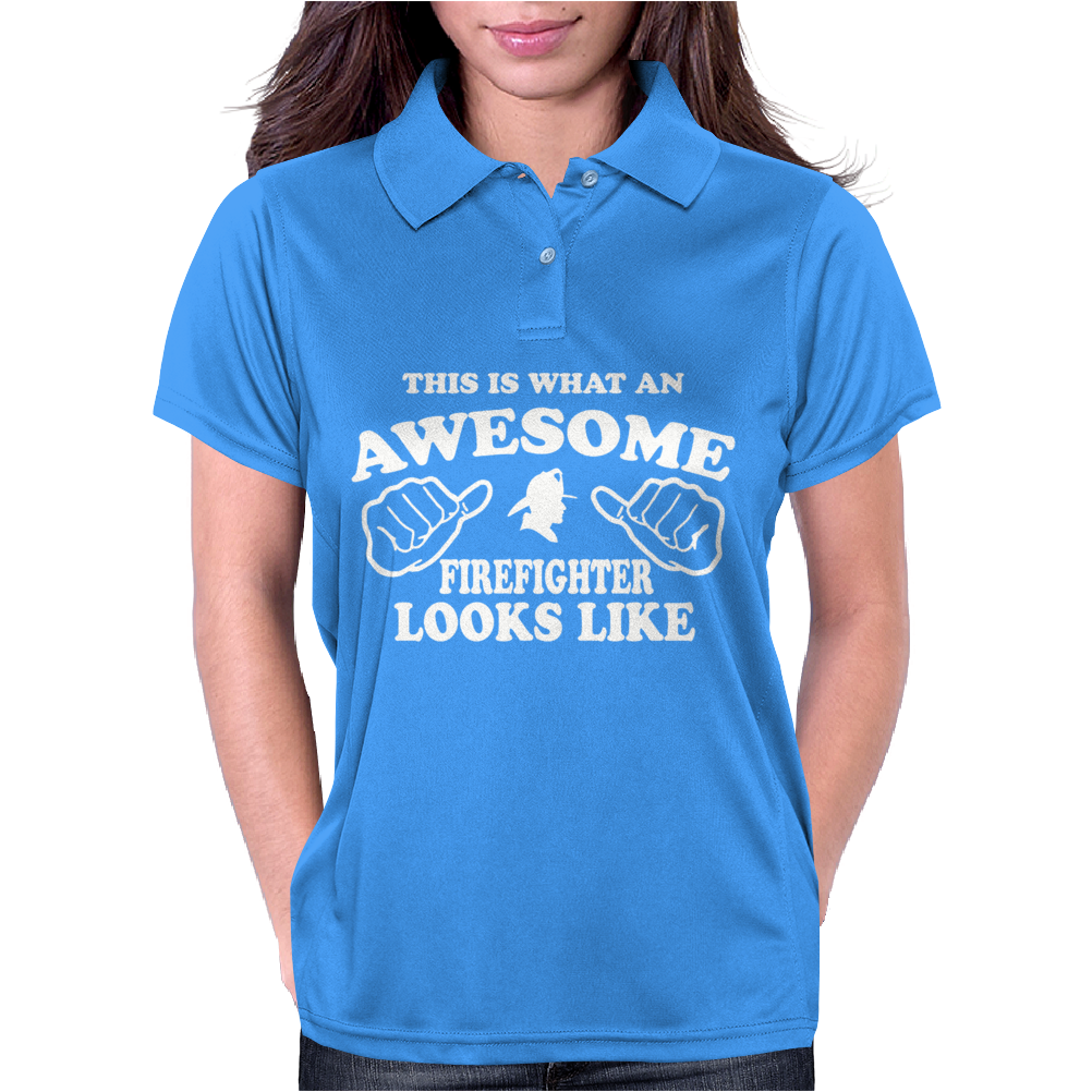 Firefighter Awesome Womens Polo