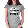 Firefighters know stuff - red Womens Fitted T-Shirt