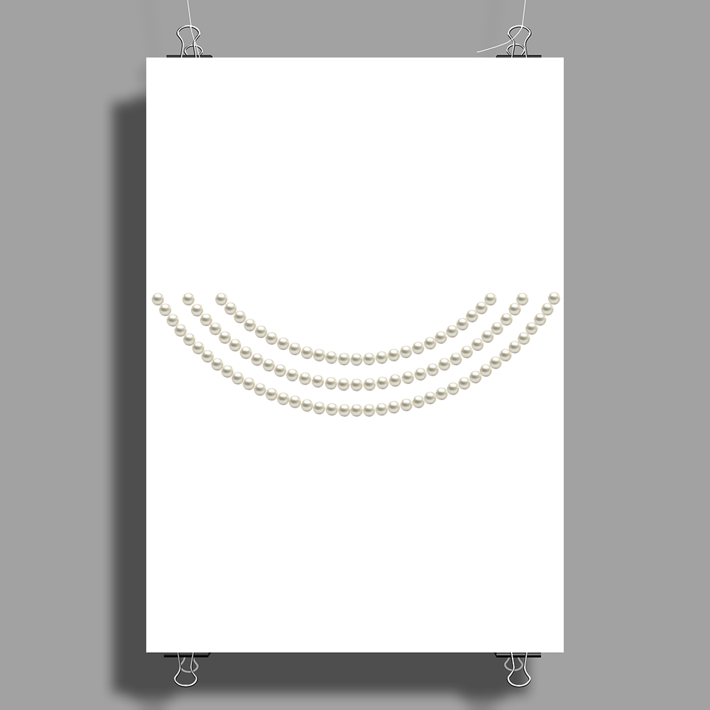 First Lady Pearls Poster Print (Portrait)