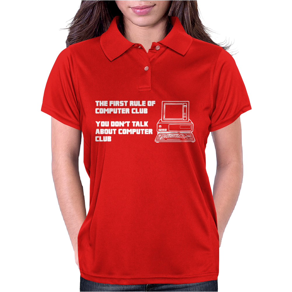 First Rule Of Computer Club Womens Polo