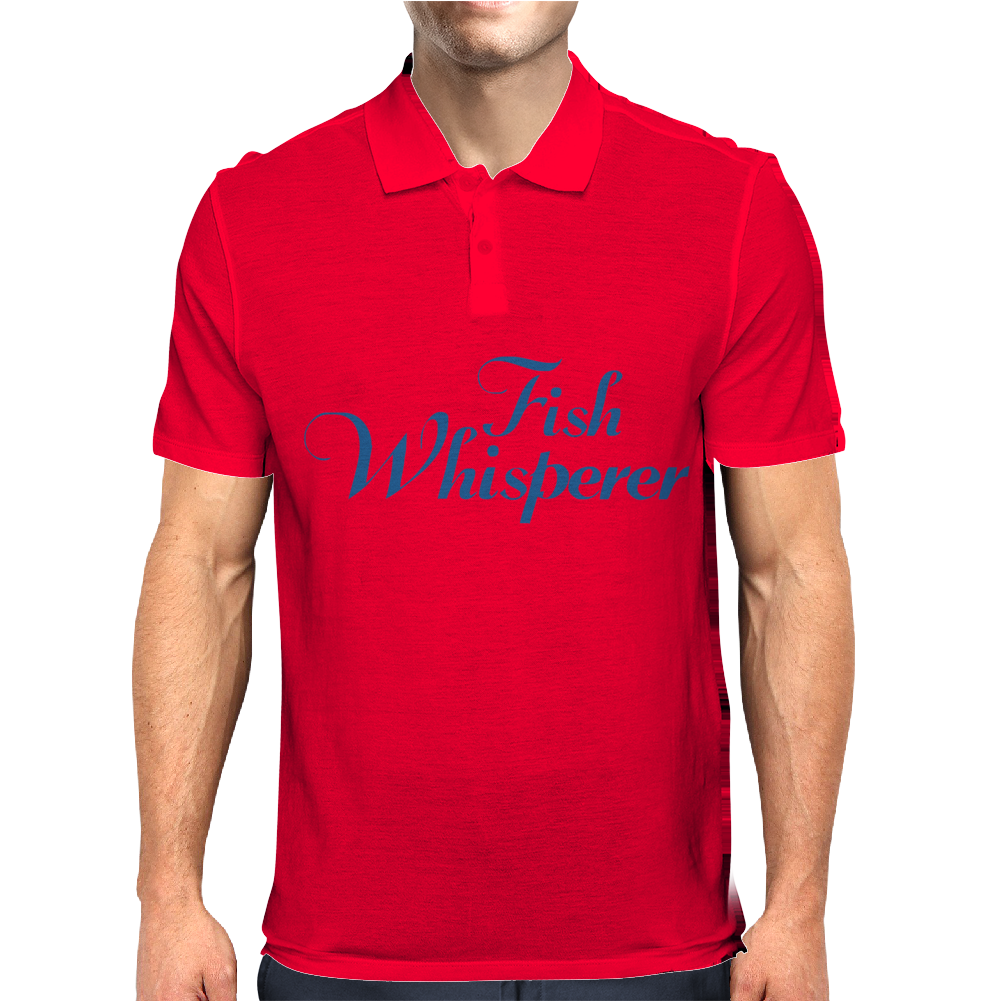 Fish Whisperer Funny Mens Polo