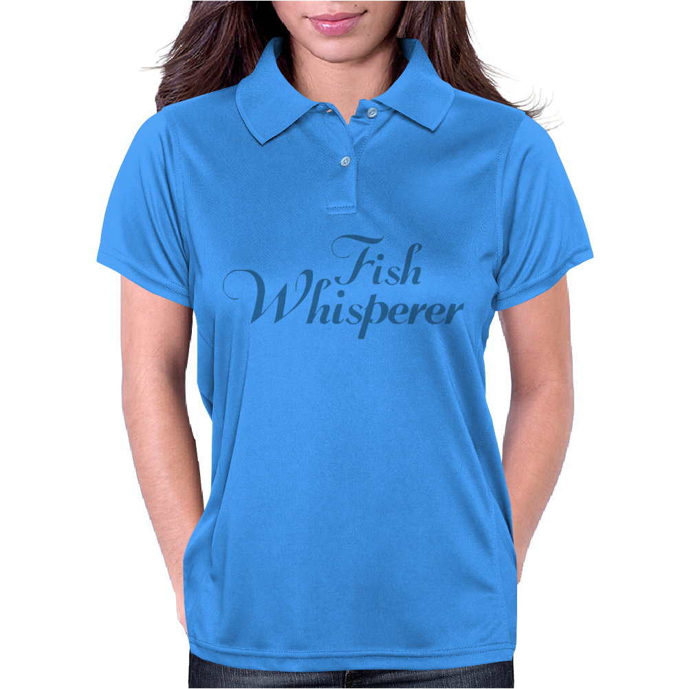 Fish Whisperer Funny Womens Polo