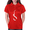 Fishing Hook Funny Womens Polo
