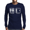 Fishing - Problem Solved Mens Long Sleeve T-Shirt