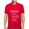Fishing Rules Funny Mens Polo