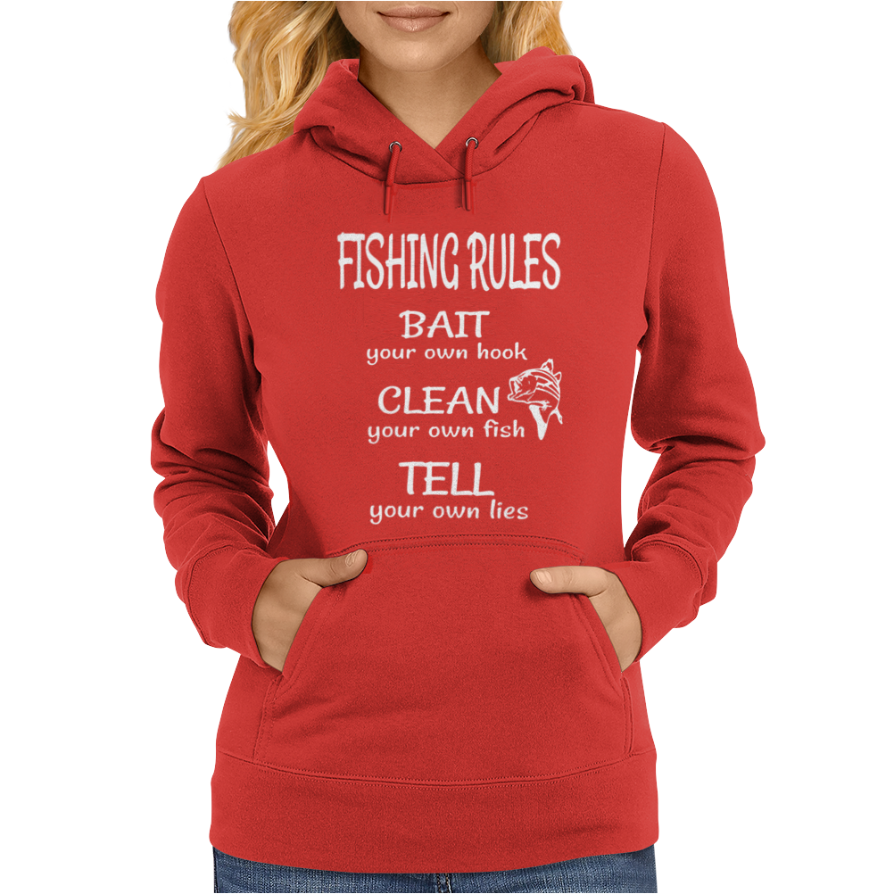 Fishing Rules Funny Womens Hoodie