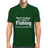 fishing with beer Mens Polo