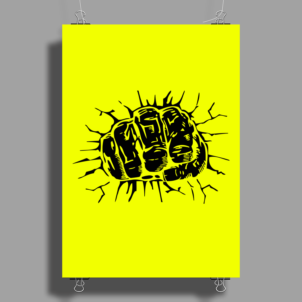 fist breaks Poster Print (Portrait)