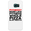 Fitness More liike fitness whole pizza in my mouth Phone Case