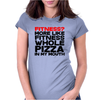 Fitness More liike fitness whole pizza in my mouth Womens Fitted T-Shirt