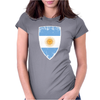 Flag of Argentina Womens Fitted T-Shirt