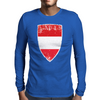 Flag of Austria Mens Long Sleeve T-Shirt